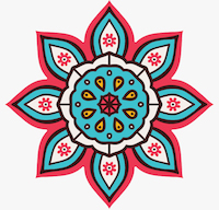 Vector Mandala. Round ornament in ethnic style. Hand drawn